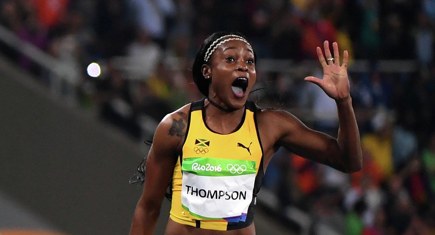 Ямайская спортсменка Элейн Томпсон победила в беге на 100 метров на ОИ-2016