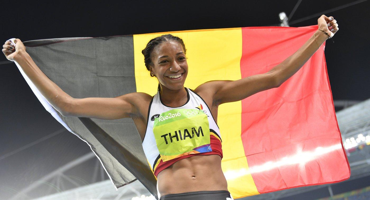 Бельгийка Нафиссату Тиам завоевала золотую медаль в семиборье на Олимпиаде в Рио