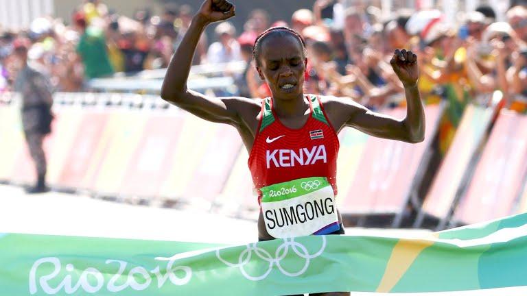 Джемина Сумсон – победительница марафона на ОИ-2016 в Рио-де-Жанейро