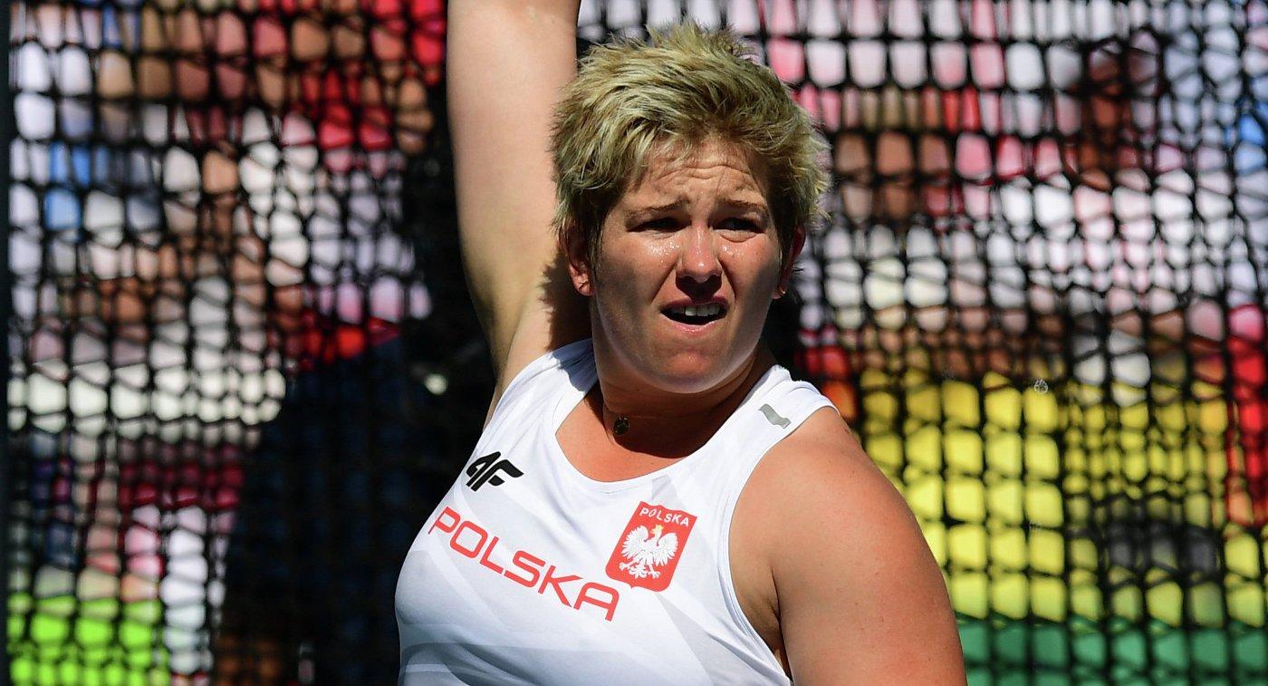 Анита Влодарчик побила мировой рекорд в метании молота на Олимпийских играх в Рио