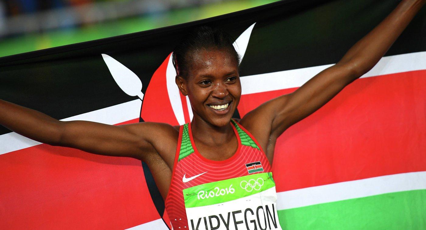 Кенийка Фаит Кипьегон завоевала золото Олимпийских игр в Рио в беге на 1500 метров