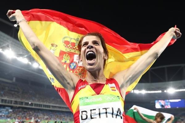 Испанка Руфь Бейтиа завоевала золото в прыжках в высоту на Олимпиаде в Рио-де-Жанейро