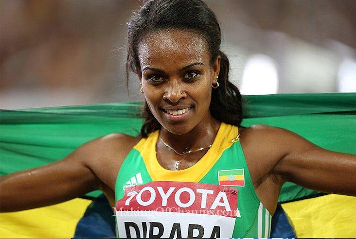 Гензебе Дибаба пыталась улучшить мировой рекорд на 1 милю