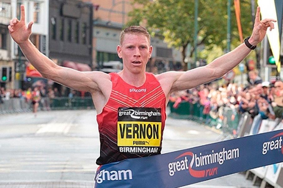 Энди Вернон и Элизеба Чероно - победители Great Birmingham Run