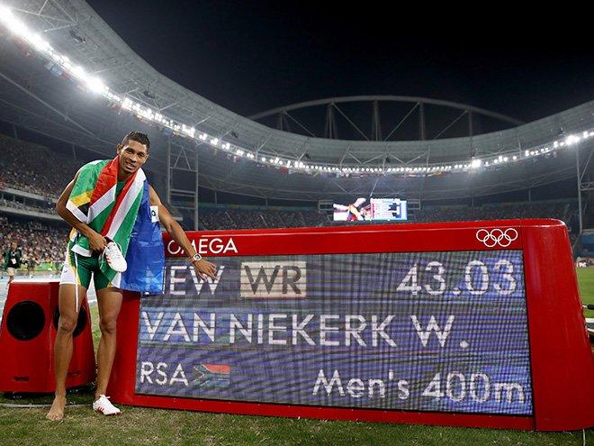 Ван Никерк получил звание лучшего легкоатлета Рио-2016