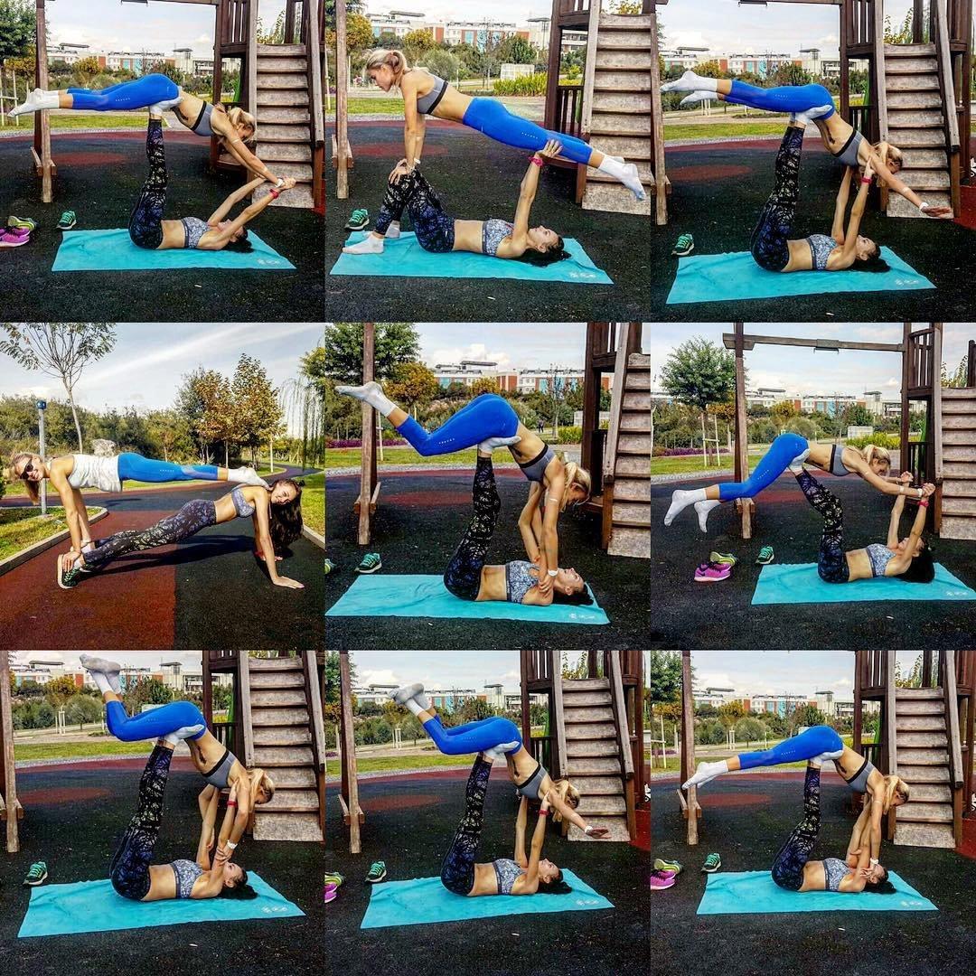 Акробатические трюки от украинских легкоатлетов