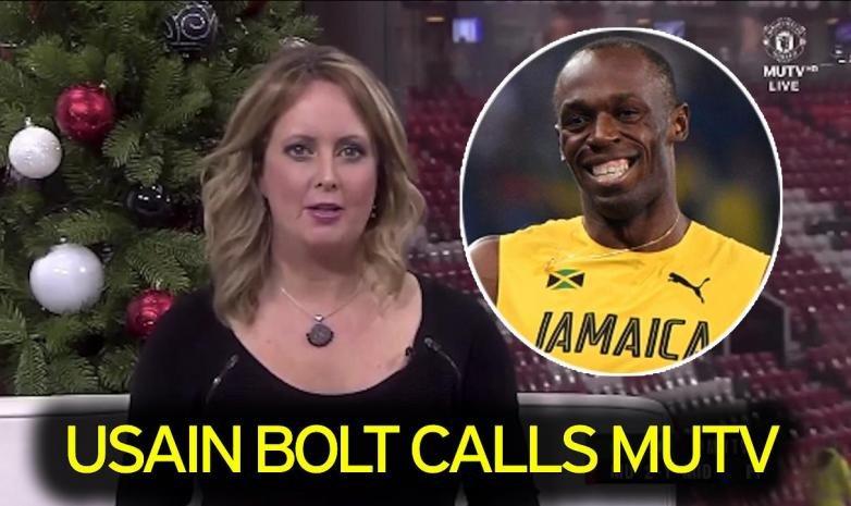 Ведущая MUTV не поверила, что ей в прямом эфире позвонил Усэйн Болт
