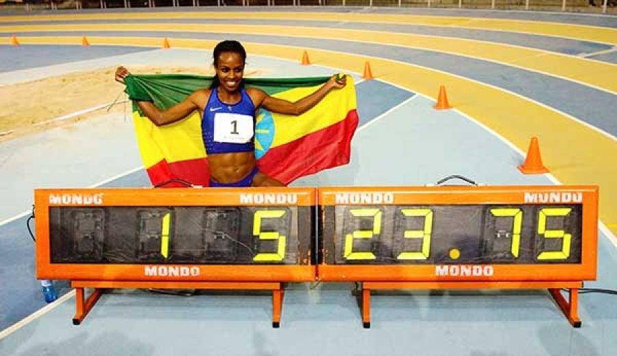 Гензебе Дибаба установила мировой рекорд на дистанции 2000 м в закрытых помещениях! +Видео