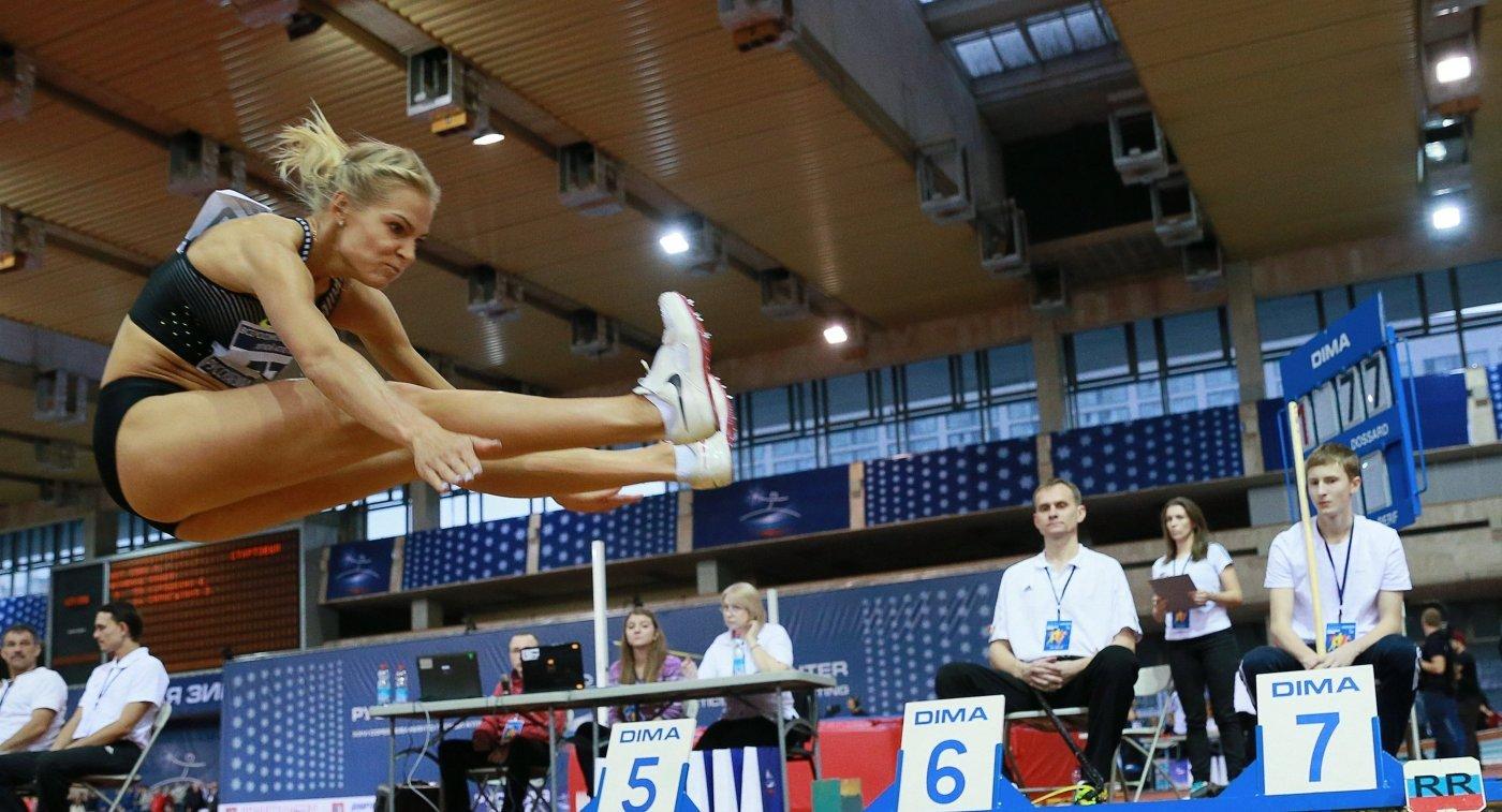 Дарья Клишина победила на чемпионате Риги по легкой атлетике
