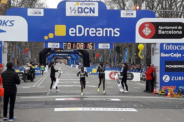 Флоренс Киплагат выиграла Барселонский полумарафон