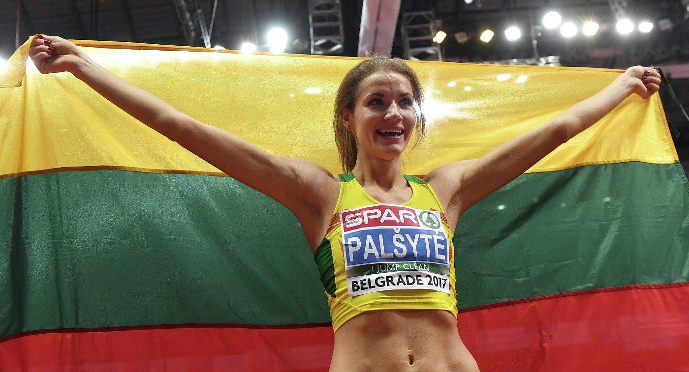 Айрине Пальшите из Литвы победила в прыжках в высоту на ЧЕ-2017 в помещении в Белграде +Видео