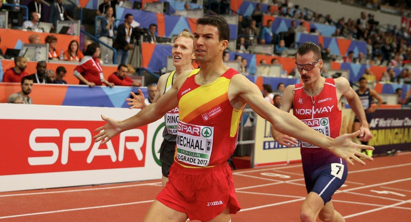 Испанец Адель Мехаал и  британка Лора Мьюр победили на дистанции 3000 м на ЧЕ в помещении +Видео