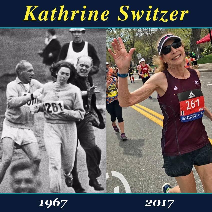 Первая женщина, пробежавшая Бостонский марафон, приняла в нем участие полвека спустя