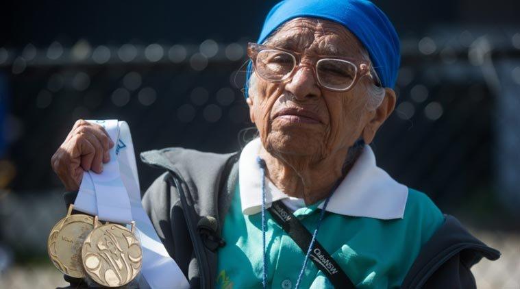 101-летняя спортсменка победила в беге на 100 метров +Видео