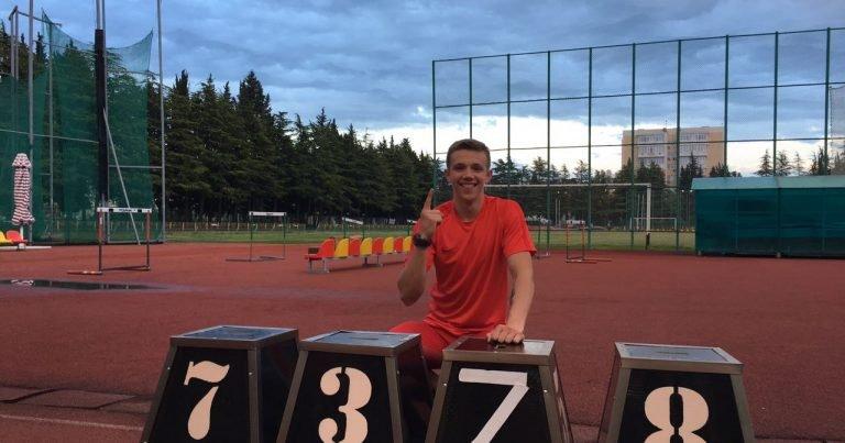 Новый рекорд России в десятиборье среди юношей до 18 лет