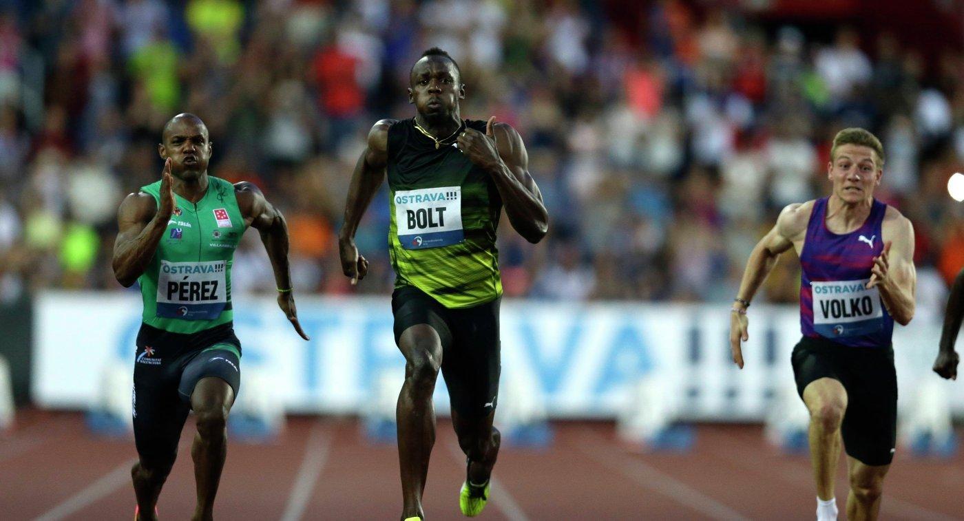 Усэйн Болт победил на 100-метровке на этапе Мирового вызова в Остраве +Видео