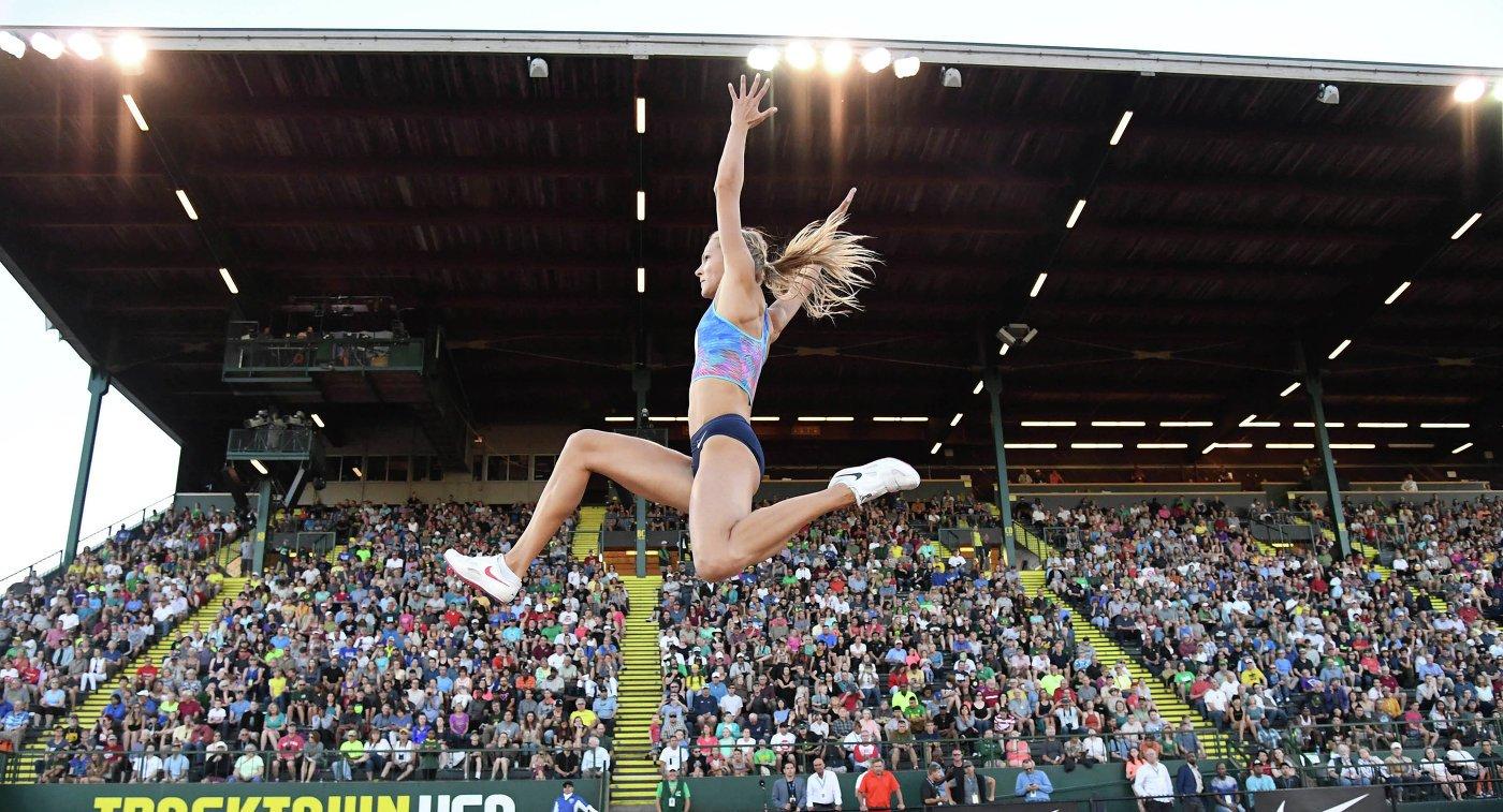 Дарья Клишина стала второй в прыжках в длину на турнире в Швейцарии